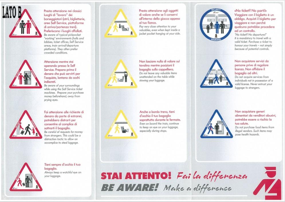 I consigli della polizia ferroviaria per i viaggiatori