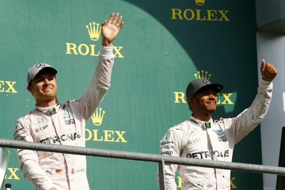 Rosberg torna sul gradino più alto del podio in Belgio, davanti a Hamilton: il primo di tre trionfi in fila