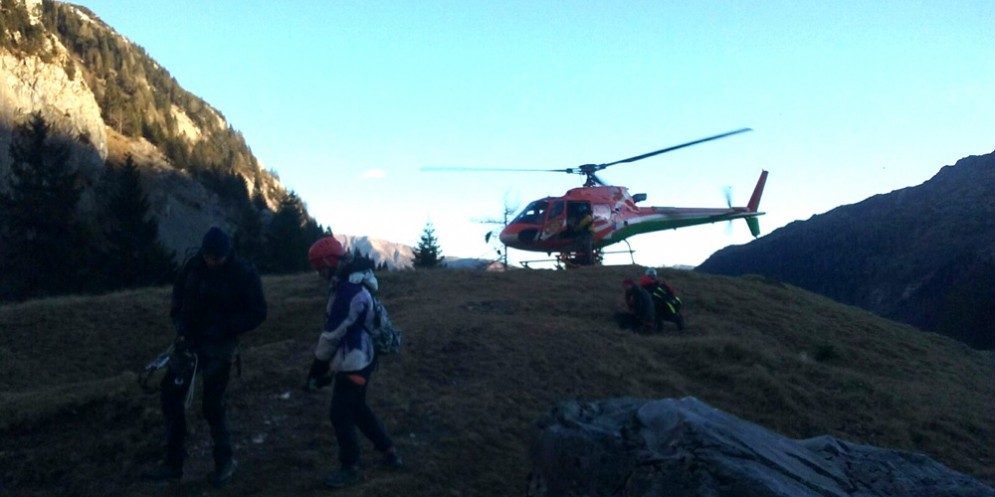 Il soccorso alpino ha recuperato due ragazzi sulla Ferrata Senza Confini