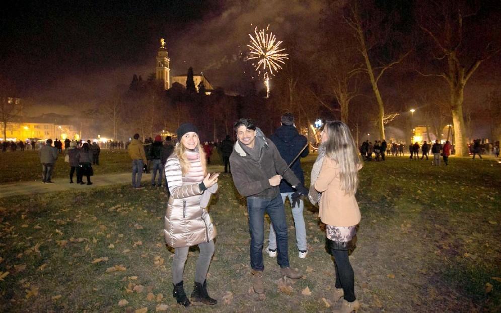 La festa in piazza a Udine (© Diario di Udine)