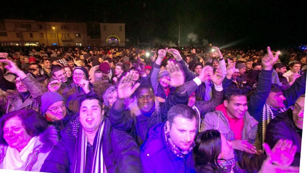 La festa in piazza a Udine