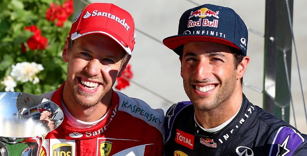 Sebastian Vettel e Daniel Ricciardo