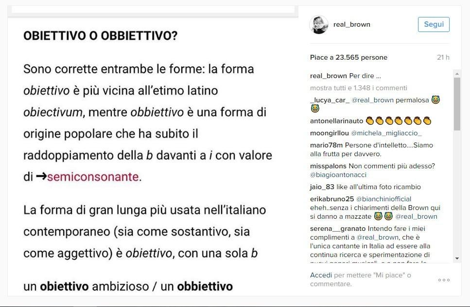 Il post di Emma Marrone su Instagram