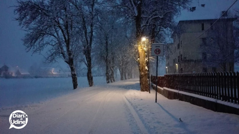 La prima neve del 2017 a Camporosso