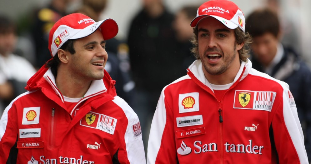 Fernando Alonso e Felipe Massa ai tempi in cui erano compagni di squadra