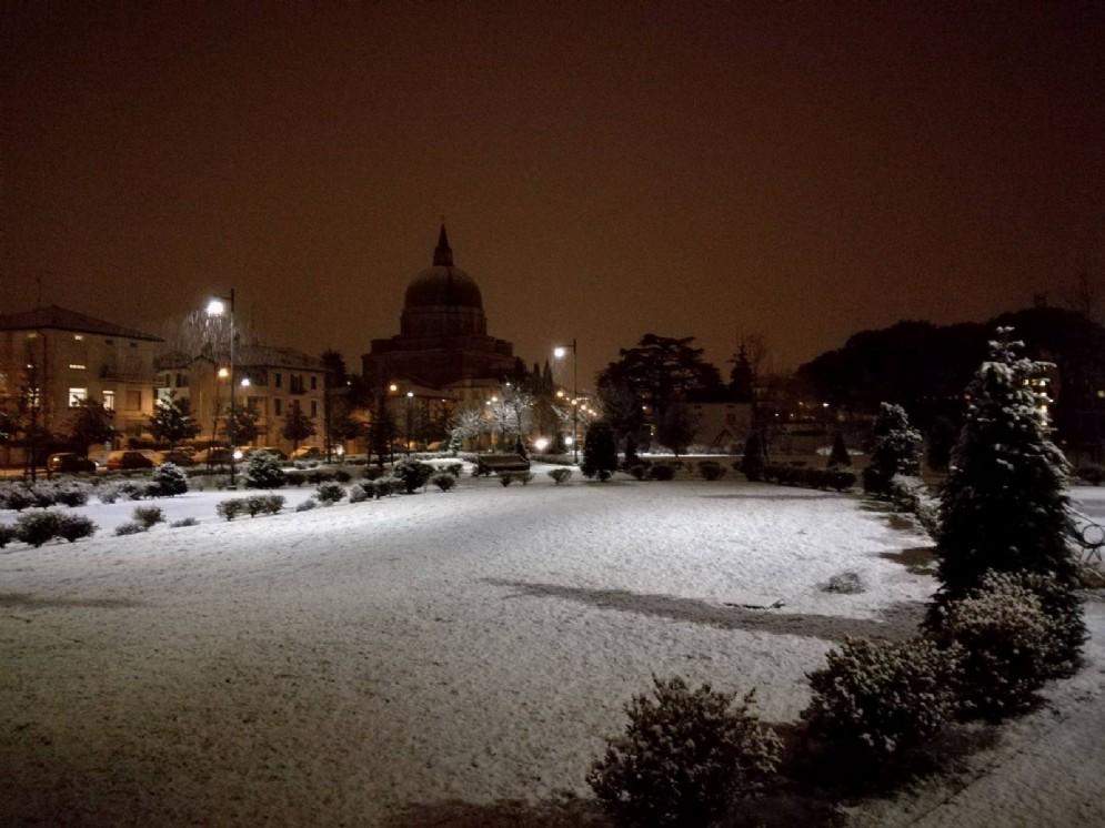 La neve caduta su Udine (© Sara Collovigh)
