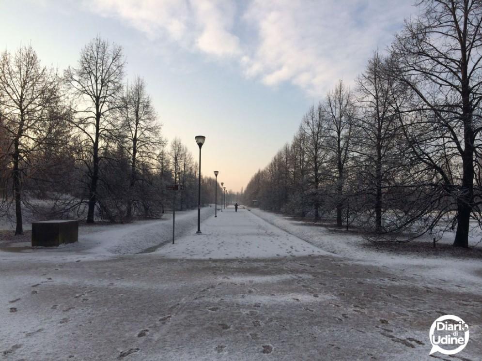 Ecco come si presentava il Parco del Cormor sabato mattina (© Diario di Udine)