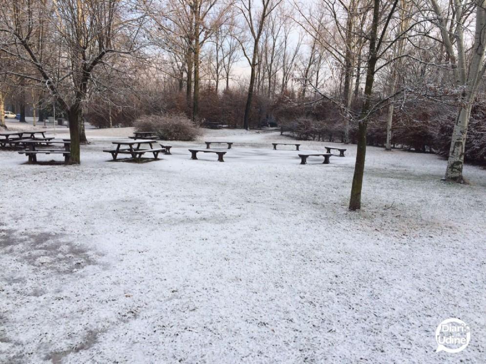 Ecco come si presentava il Parco del Cormor sabato mattina