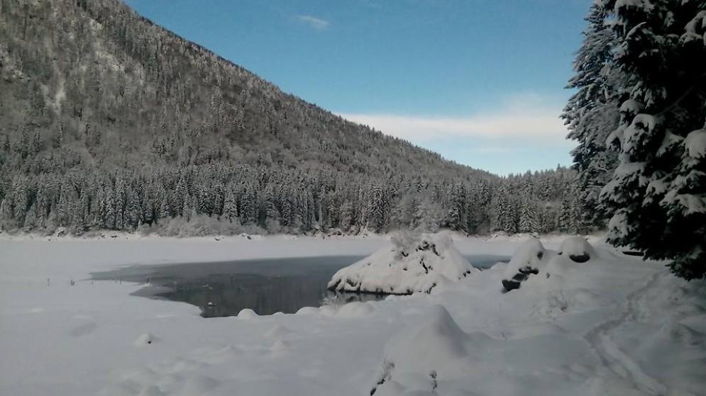 L'area dei laghi di Fusine dopo la nevicata (© Busettini)