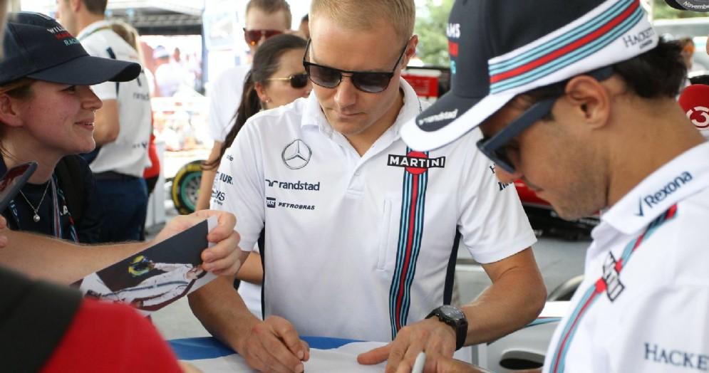 Valtteri Bottas con Felipe Massa, che prenderà il suo posto alla Williams