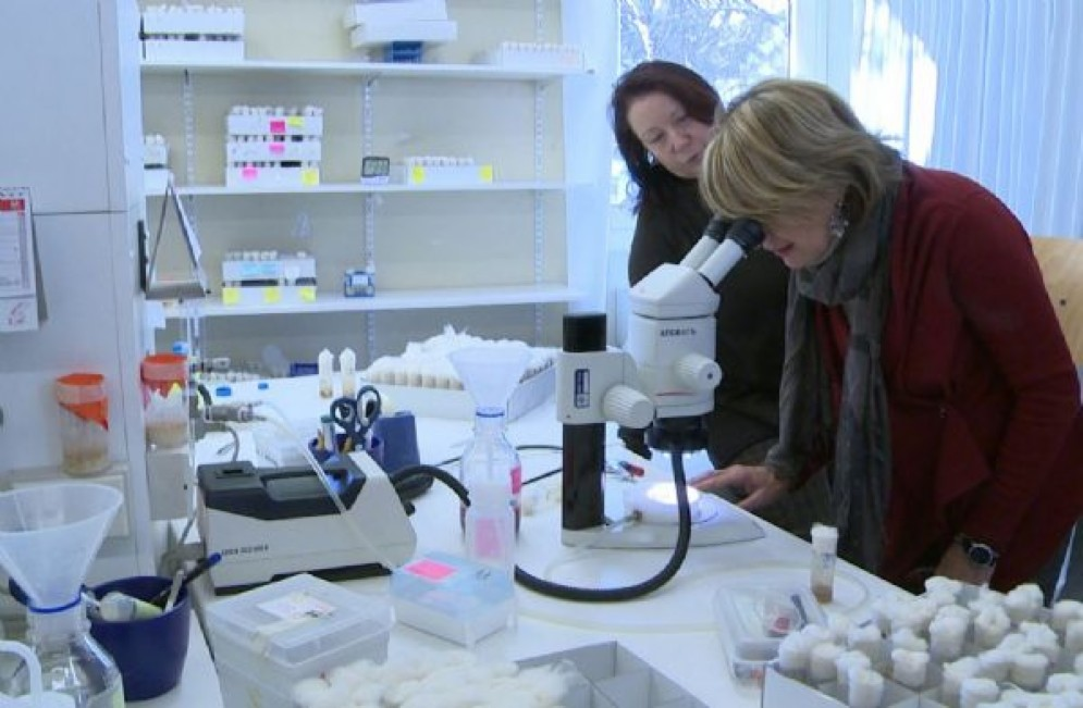 Maria Sandra Telesca (Assessore regionale Salute) visita l'International Centre for Genetic Engineering and Biotechnology / ICGEB