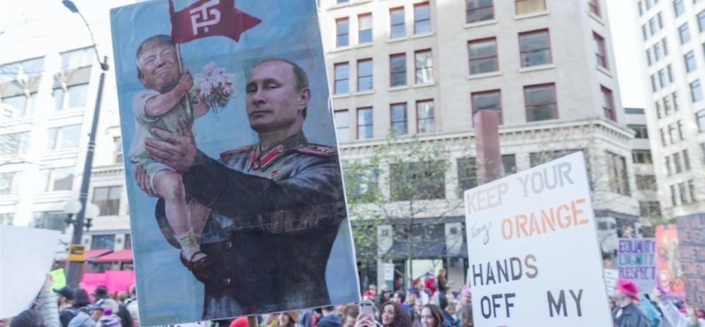 Manifestazione contro la «propaganda russa»