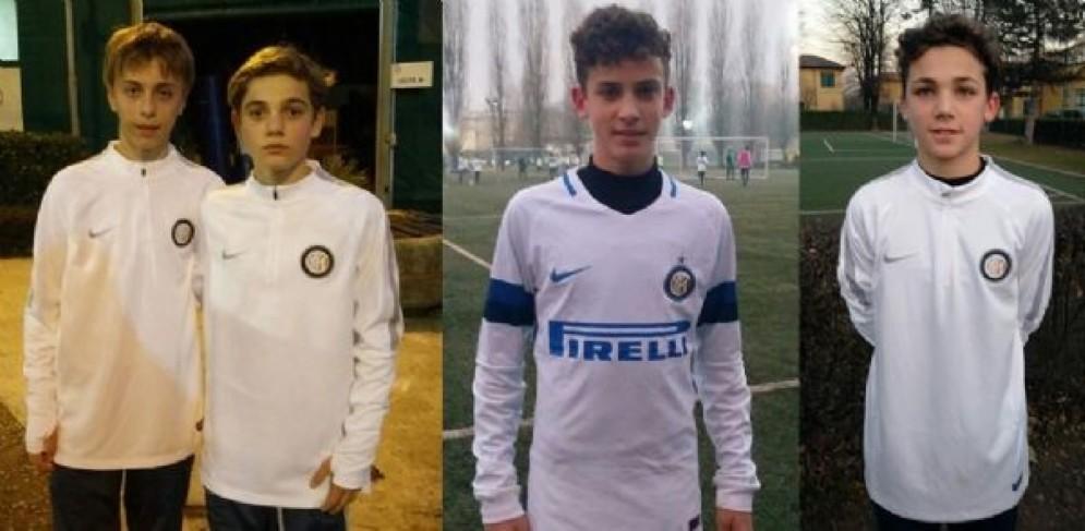 I quattro giovani Ramarri all'Inter da sinistra: E. Maset, Doratiotto, Bottan, R. Maset