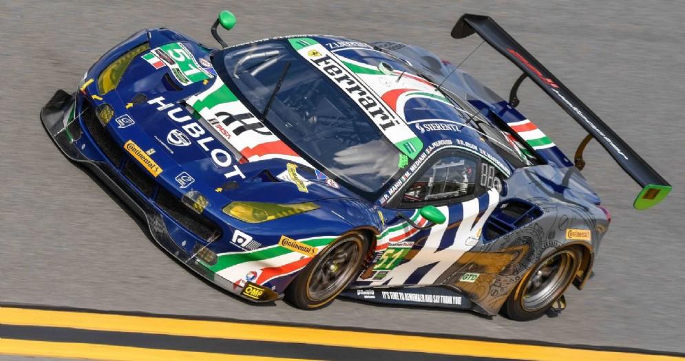 La 488 Gt3 di Alessandro Pier Guidi in pole a Daytona