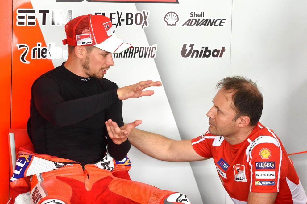 Casey Stoner ai box Ducati