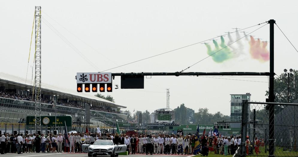 La partenza dell'edizione 2016 del Gran Premio di Monza di Formula 1