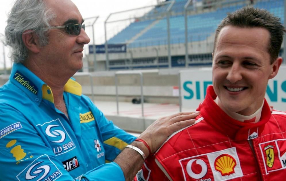 Flavio Briatore con Michael Schumacher