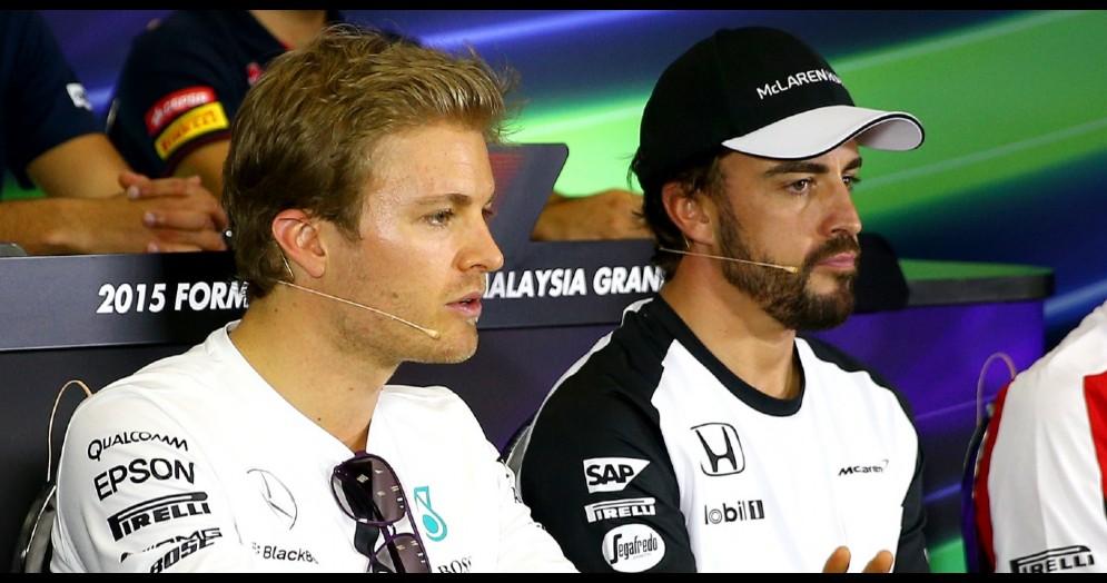 Nico Rosberg e Fernando Alonso