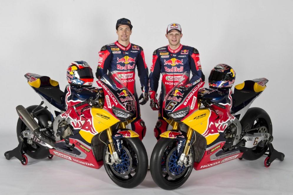 Hayden e Bradl posano sulle moto con cui correranno quest'anno