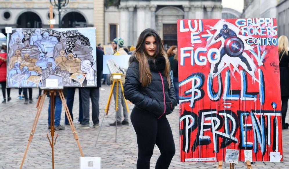 Flash mob in piazza San Carlo
