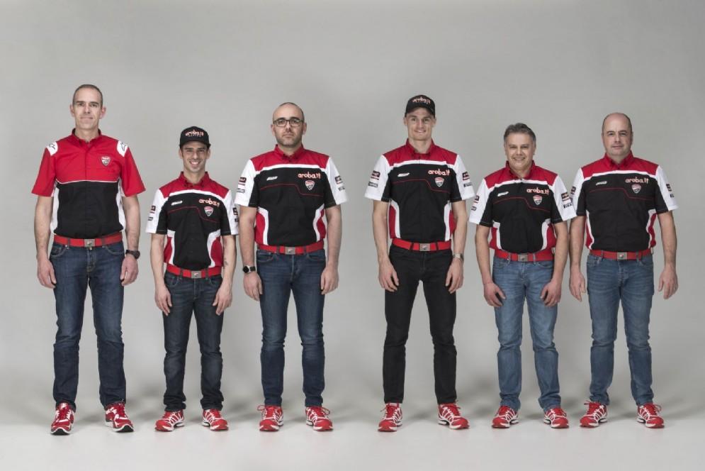Ernesto Marinelli, Marco Melandri, Stefano Cecconi, Chaz Davies, Serafino Foti e Daniele Casolari