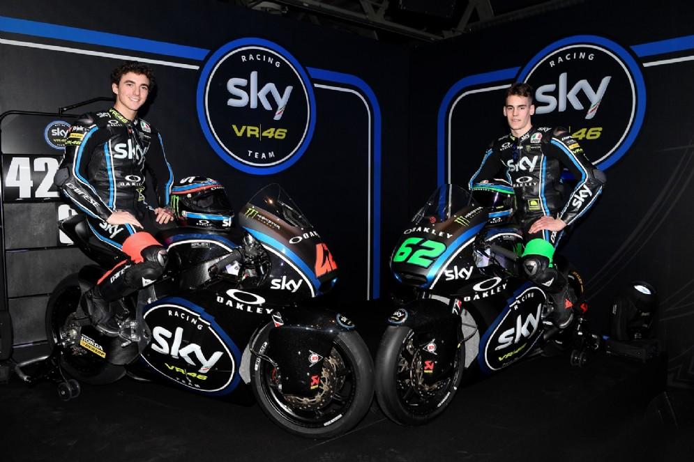 Il duo della Moto2: Pecco Bagnaia e Stefano Manzi