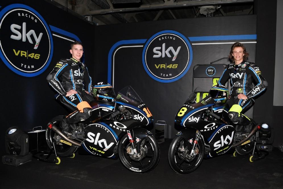 Il duo della Moto3: Andrea Migno e Nicolò Bulega