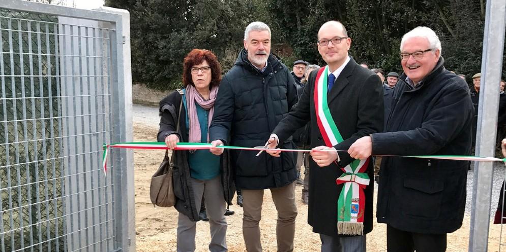 L'assessore Panontin ad Azzano Decino