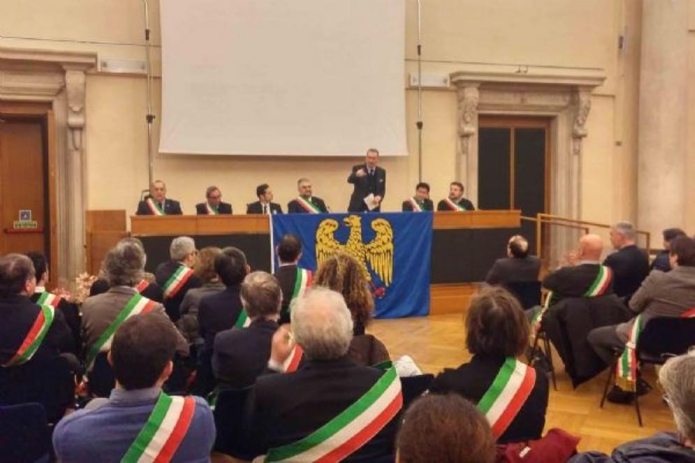 Sergio Bolzonello (Vicepresidente Regione FVG e assessore Attività produttive, Turismo e Cooperazione) alla prima assemblea generale della Comunità linguistica friulana