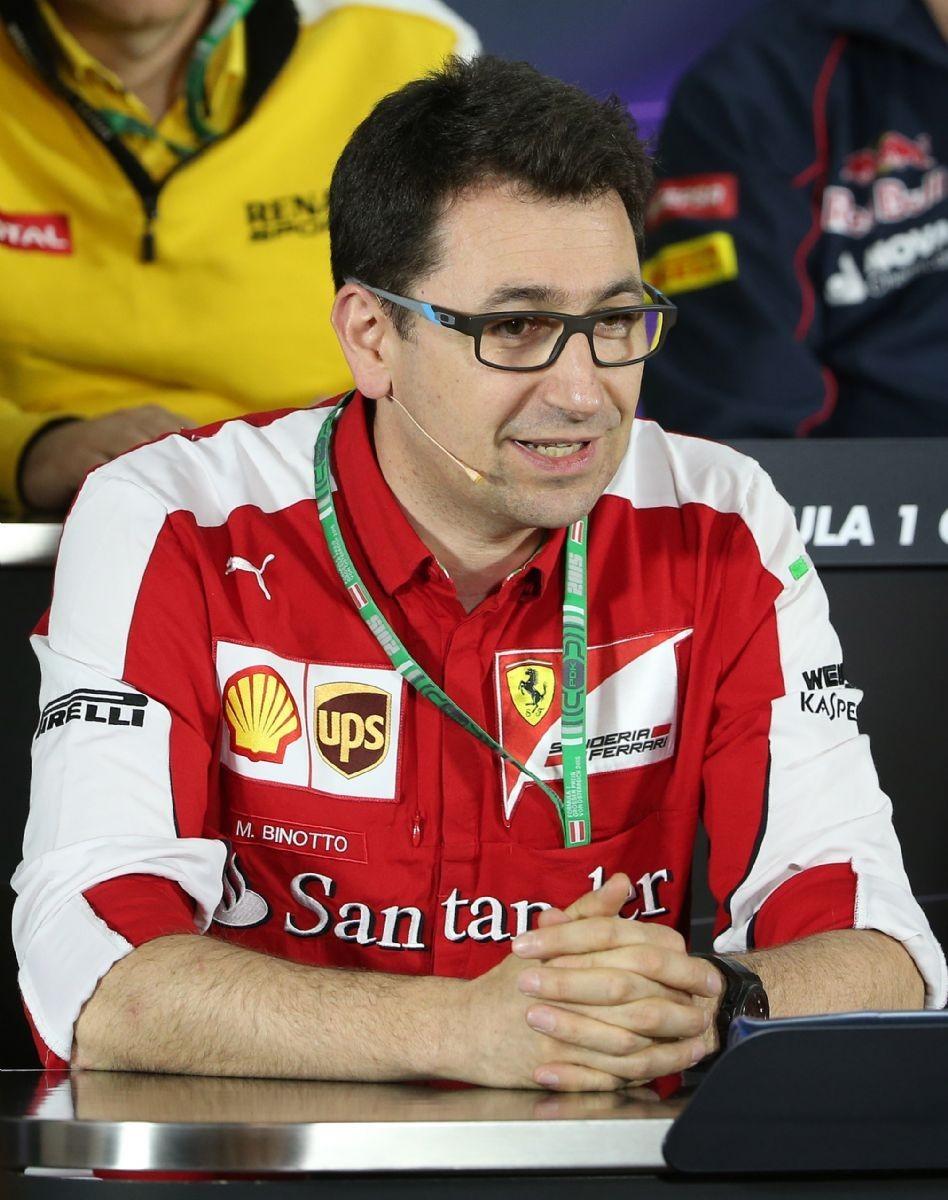 Il direttore tecnico Ferrari, Mattia Binotto