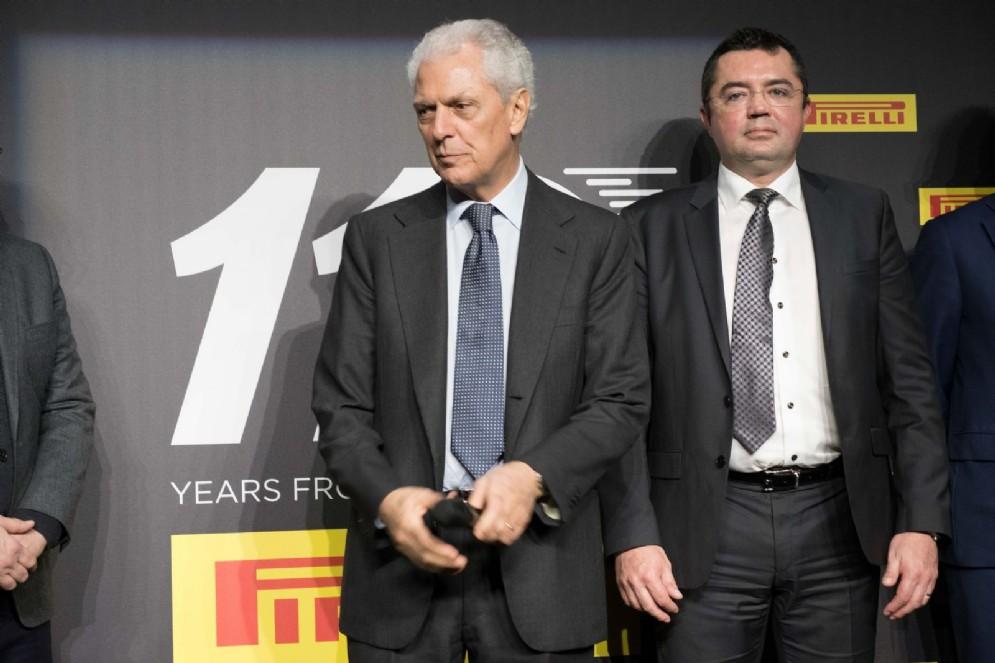 Tronchetti Provera con il team principal della McLaren Eric Boullier
