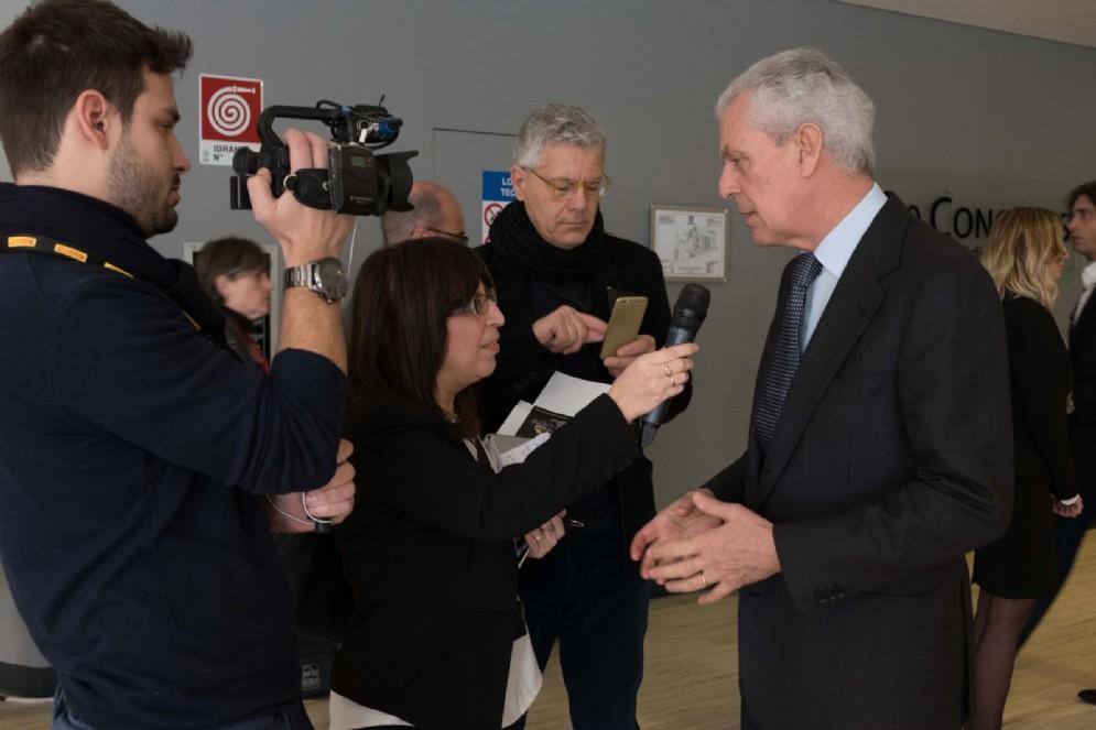 Tronchetti Provera intervistato a margine della cerimonia
