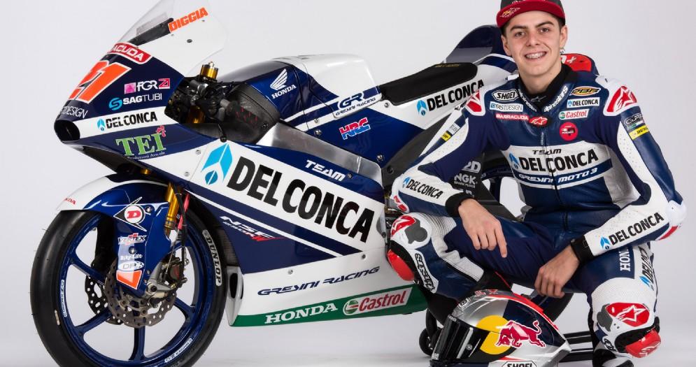 Fabio Di Giannantonio con la sua Honda