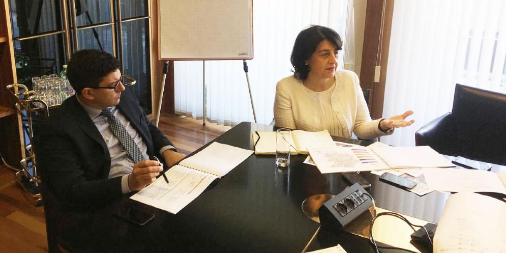 Puksic e Santoro nella sede di Insiel