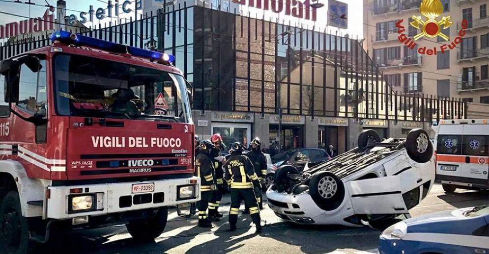 Incidente in piazza Adriano