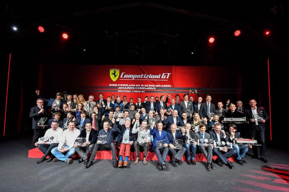 La serata di premiazione dei campioni Gt 2016