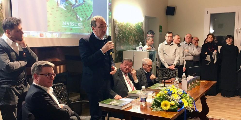 Il vicepresidente della Regione Sergio Bolzonello alla presentazione del volume sulla storia di Marsure