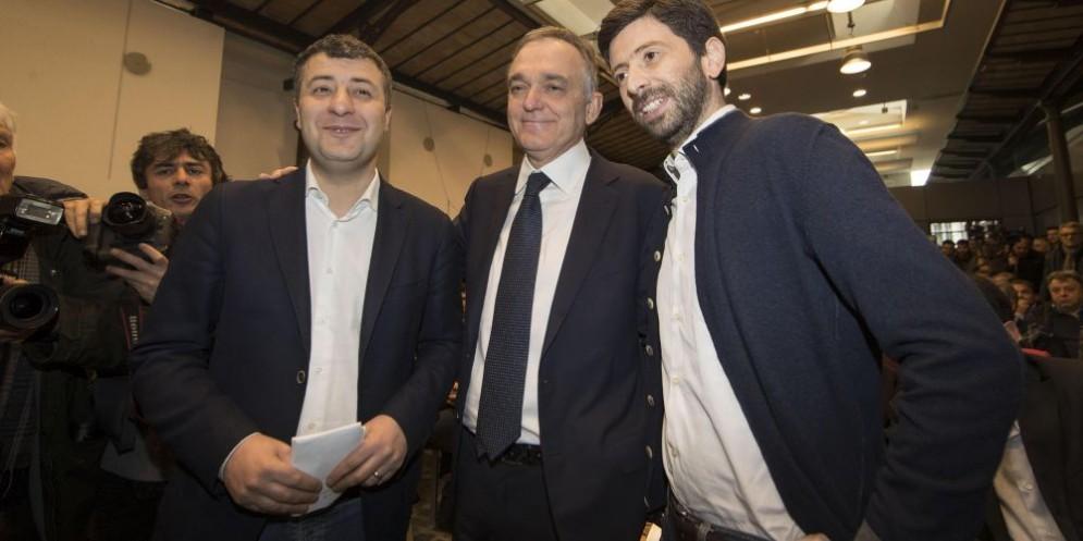Arturo Scotto, Enrico Rossi, Roberto Speranza.