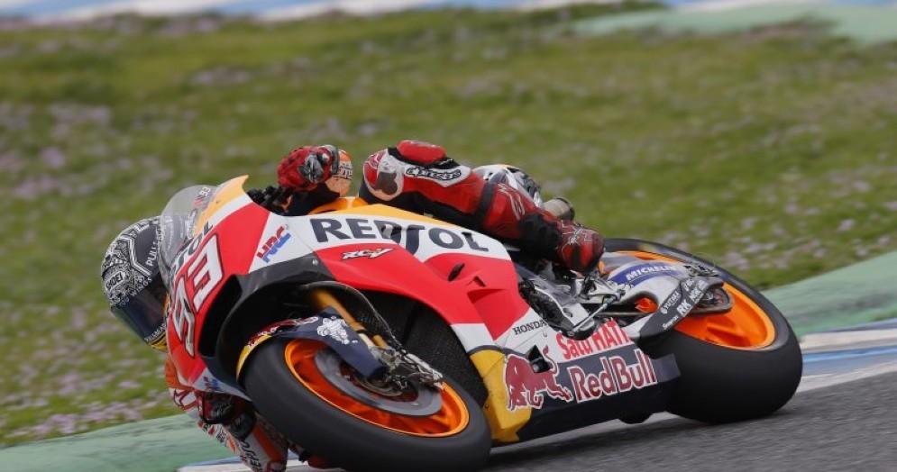 Marc Marquez in azione a Jerez