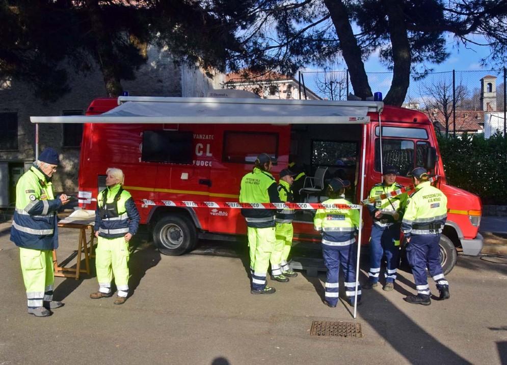 Volontari della Protezione civile, ad Andorno Micca ieri