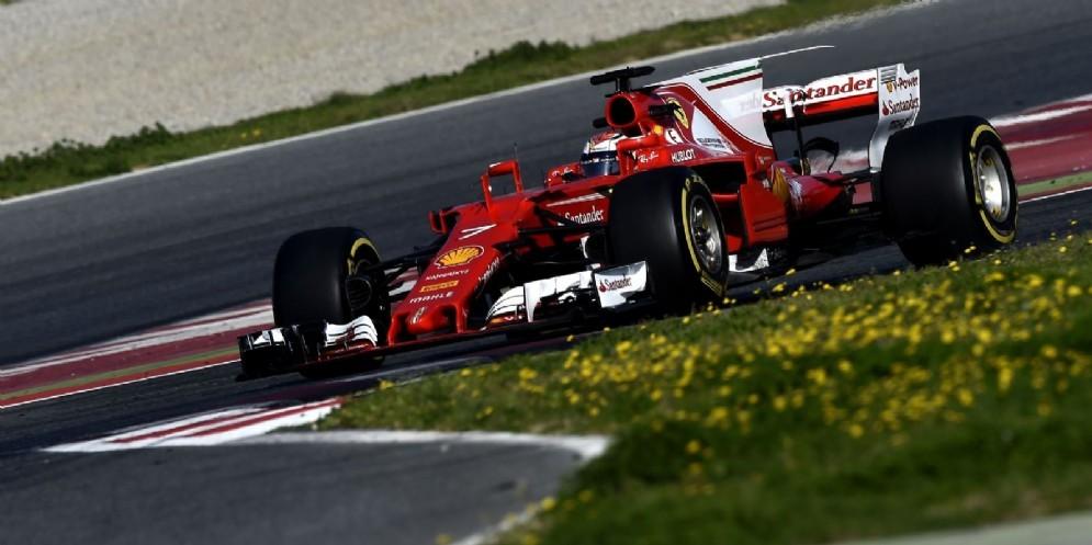 Kimi Raikkonen, più veloce di tutti a Barcellona al martedì e al giovedì