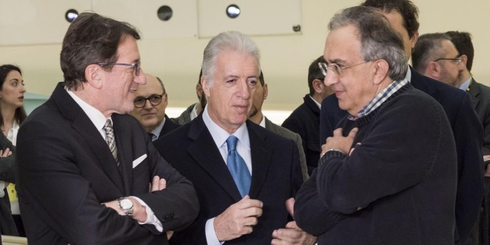 Il presidente Sergio Marchionne con il suo vice Piero Ferrari