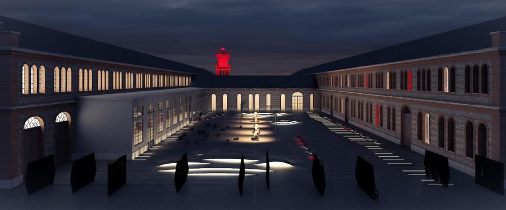 La Corte Est di notte