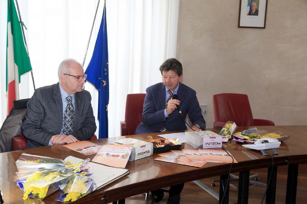 L'assessore Lorenzo Giorgi e Vincenzo Rovinelli