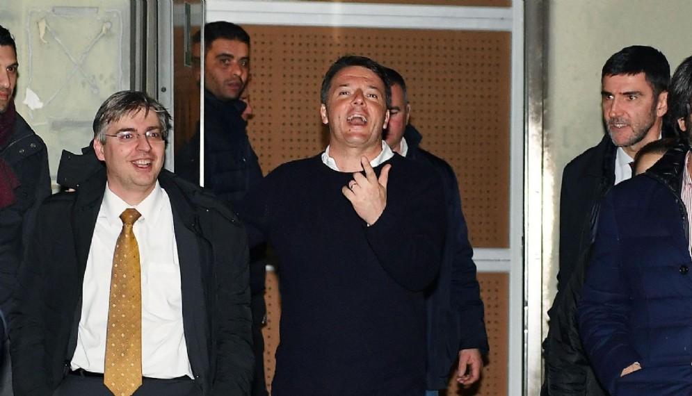 Il segretario del Pd Matteo Renzi al Lingotto