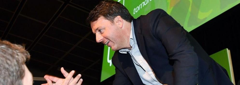 L'ex premier ed ex segretario Pd Matteo Renzi al Lingotto.