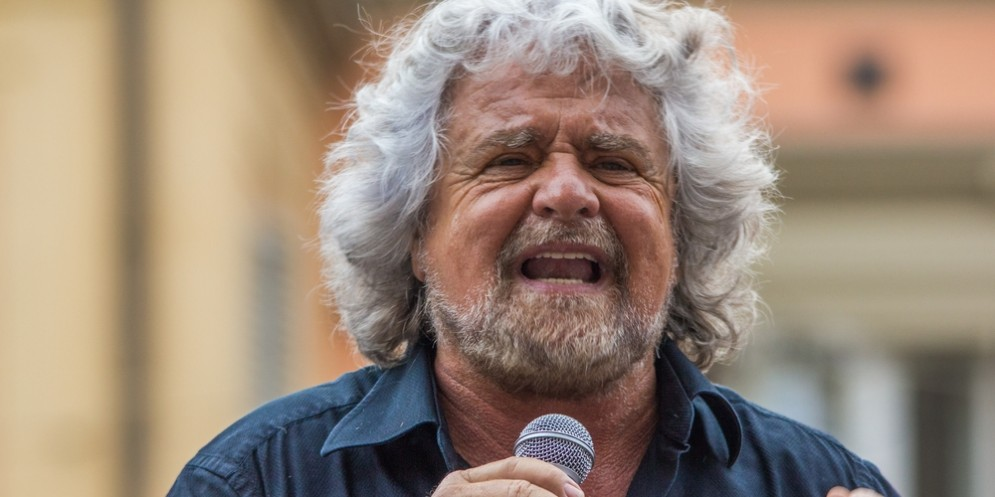 Il leader del M5S, Beppe Grillo.