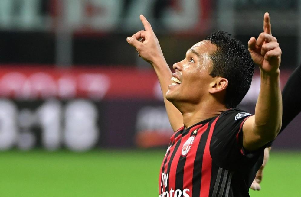 La gioia di Carlos Bacca dopo un gol