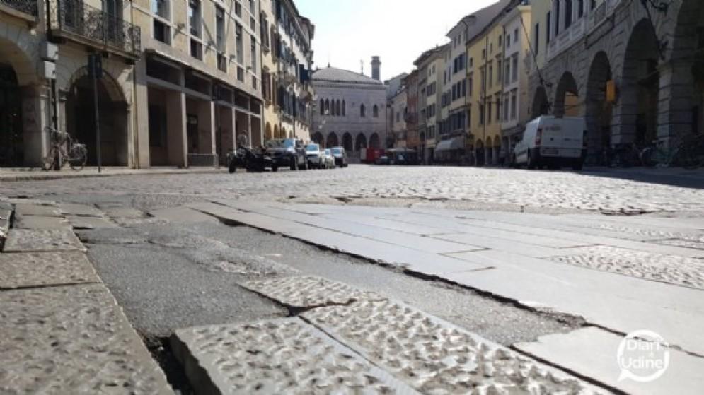 Udine: fa ancora discutere il rifacimento di via Mercatovecchio