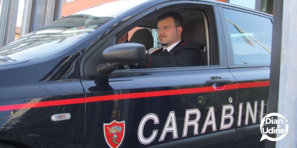 Intervento dei carabinieri di Buja